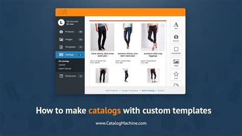 create  product catalog  custom templates