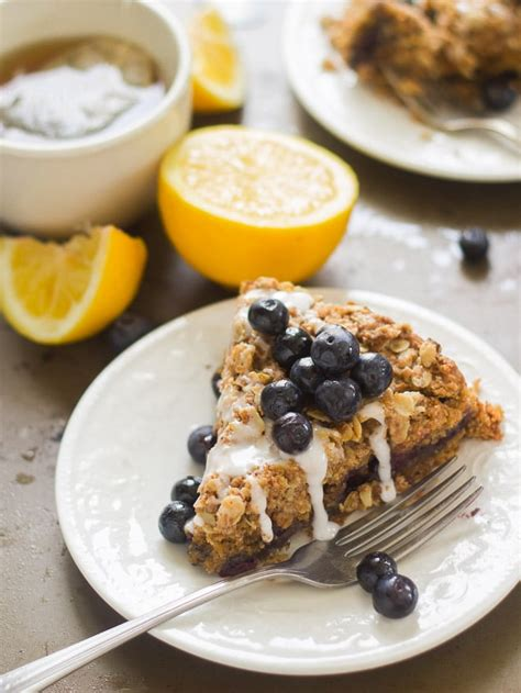 It's classified as a coffee cake because of the crumbly texture, but it's not loaded with all the fat and sugar that's commonly found in coffee cake recipes. Vegan Lemon Blueberry Coffee Cake - Connoisseurus Veg