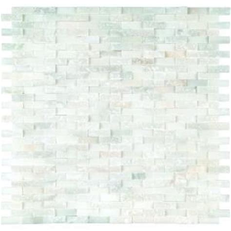 ms international greecian white splitface 12 in x 12 in marble mesh mounted mosaic wall tile