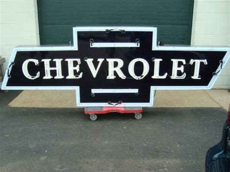Chevrolet Neon Sign by Signs Bernies Restorations