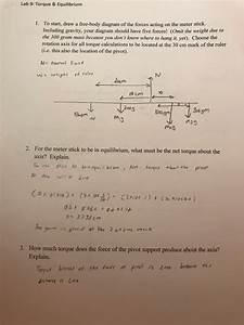 Solved  Lab 9  Torque  U0026 Equilibrium I  To Start  Draw A Fr