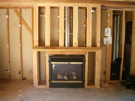 How To Light Wood Burning Fireplace by How To Frame In A Gas Fireplace Framing For Fireplace