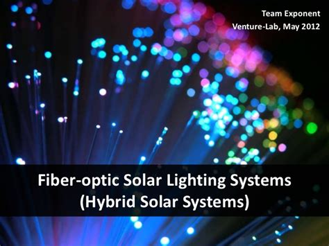 fiber optic solar lighting systems