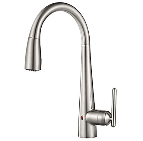 touch free kitchen faucet stainless steel lita touch free pull kitchen faucet