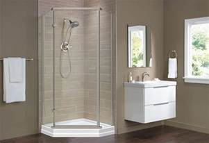 showers ideas small bathrooms shower base and wall replacement at the home depot