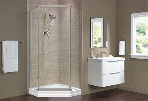 Shower Walls And Base by Shower Base And Wall Replacement At The Home Depot