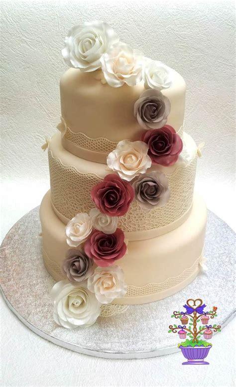 ivory  dusky pink rose wedding cake cakecentralcom