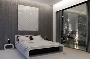 Deco Murale Blanche : 20 id es de d coration murale pour votre chambre coucher ~ Teatrodelosmanantiales.com Idées de Décoration