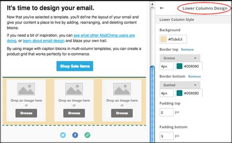 delete image mailchimp template how to add more row at the mail designer in mailchimp