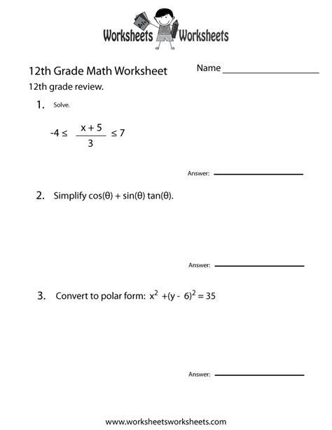 grade math review worksheet worksheets worksheets