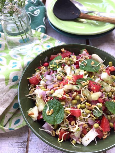 Sprouted Fenugreek Methi Seed Salad Recipe Saffron Trail