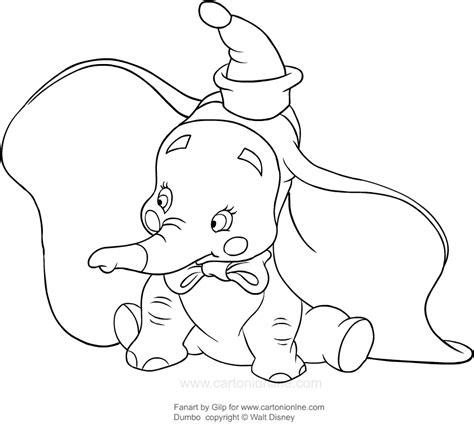 disegni a matita disney dumbo disegno di dumbo pagliaccio da colorare