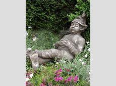 Trolle Wichtel Gnome aus Steinguss und Antikstein