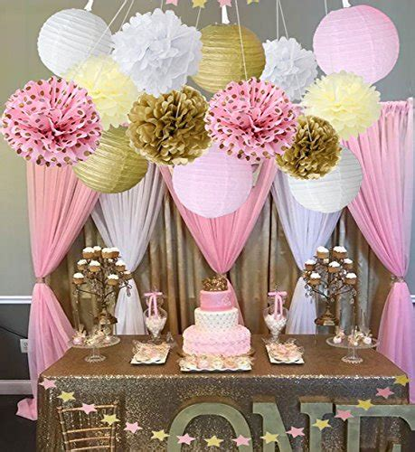 baby shower decor  girls birthday party decoration pink