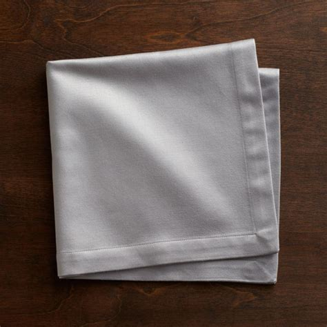 Sateen Silver Cloth Dinner Napkin Reviews Crate And Barrel