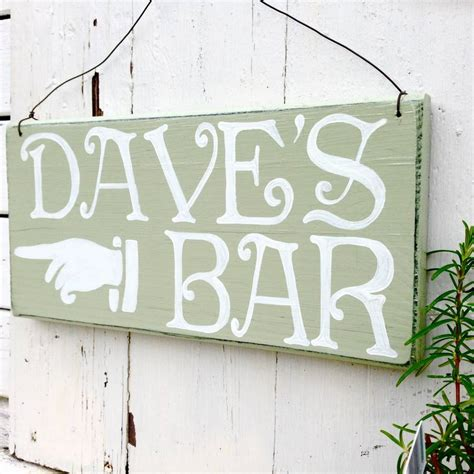 potting shed designs signs personalised bar sign by potting shed designs notonthehighstreet com