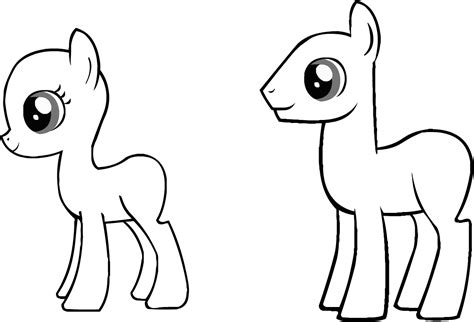 My Little Pony Blank Coloring Pages Murderthestout