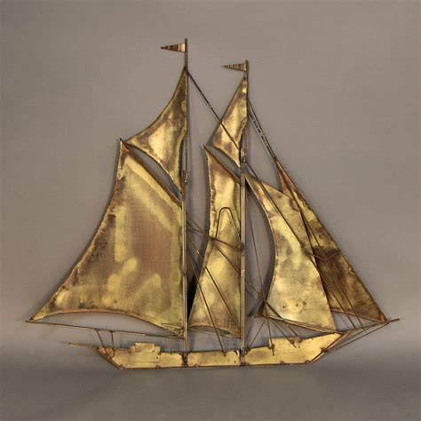 large sailboat wall sculpture by wiley at 1stdibs