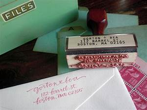 calligraphy address stamps With buy return address stamp