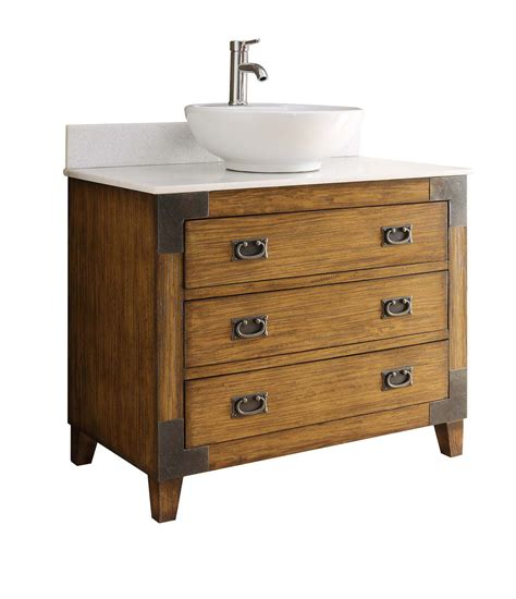 Make the most of your storage space and create an organised and functional room, with our range of bathroom sink. Akira 36-inch Vessel Sink Vanity CF35535