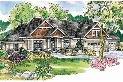 Ranch Plan Cottage Elevation Plans Designs Garage