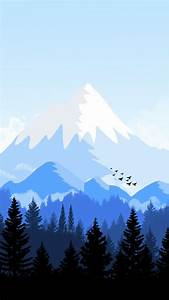 alps-mountain-animated-forest-iphone-wallpaper