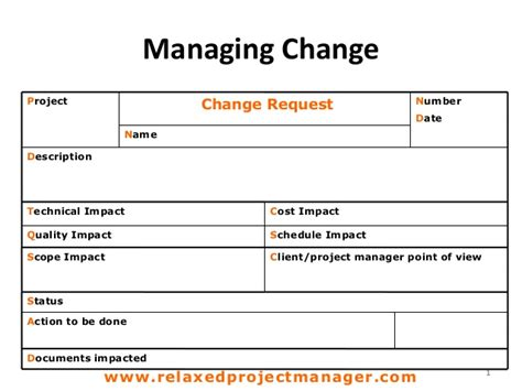 change template change request form