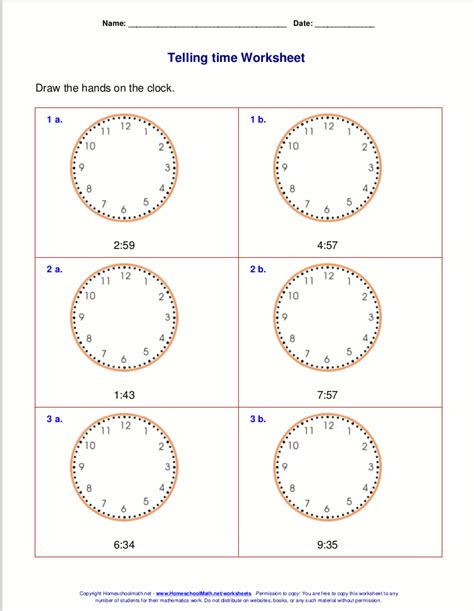 math minutes  grade  telling time worksheets