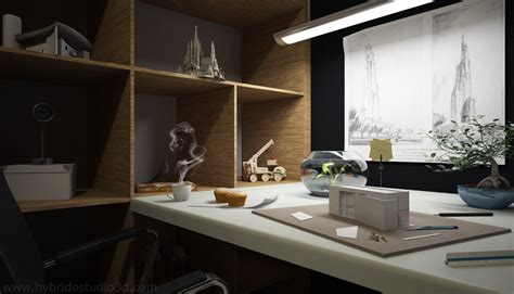 black gray wood home office desk interior design ideas