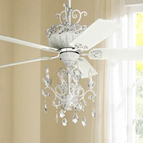 52 quot casa chic rubbed white chandelier ceiling fan 12277