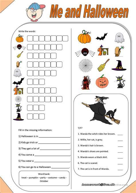 me halloween worksheet free esl printable worksheets made by teachers