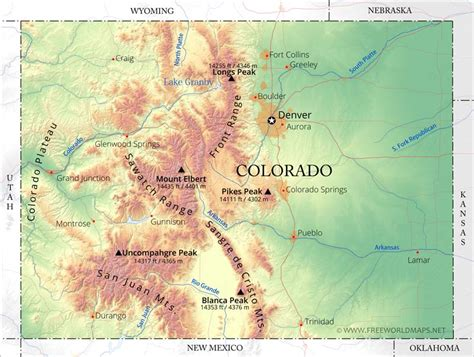 physical map  colorado