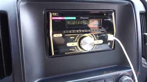 CHEVY SILVERADO 2014 PIONEER DOUBLE DIN RADIO USB FHX500UI