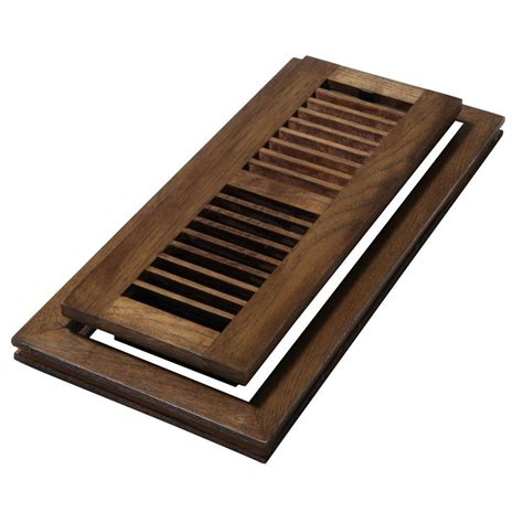 Wooden Floor Registers Home Depot by Decor Grates 4 In X 10 In Wood Hickory Saddle