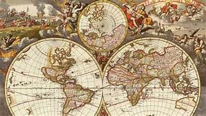 Image Gallery old world globe map