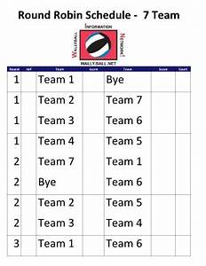 7 team schedule template pictures to pin on pinterest With 7 team schedule template