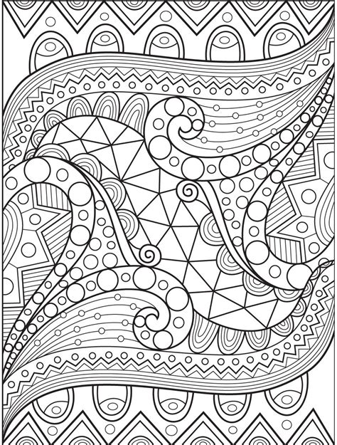 Abstract coloring page on Colorish: coloring book app for