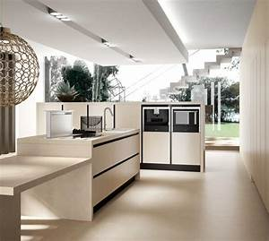 73 idees de cuisine moderne avec ilot bar ou table a manger With idee deco cuisine avec table a manger contemporaine
