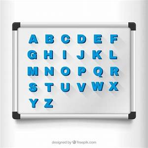 magnetic letters on a board vector free download With magnetic alphabet letters and board