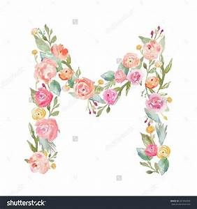 1692 best alphabet images on pinterest drawings With floral monogram letter