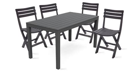 table et 6 chaises beautiful table de jardin pvc marron gallery awesome