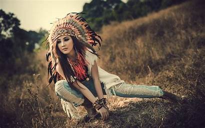 Native American Woman Wallpapers Backgrounds Indian Female