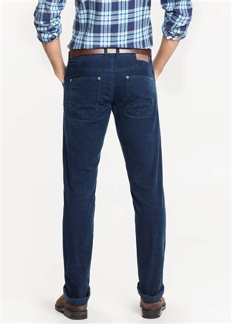 light blue corduroy pants mens lyst mango slim fit 5 pocket corduroy trousers in blue