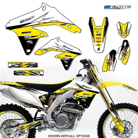 2007 rmz 450 graphics kit suzuki rmz450 07 deco decals stickers motocross ebay