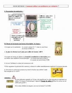 Comment Utiliser Un Multimetre : amperemetre notice manuel d 39 utilisation ~ Gottalentnigeria.com Avis de Voitures