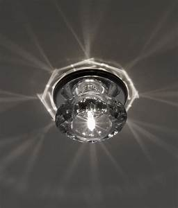 Contemporary chrome crystal downlight for decorative