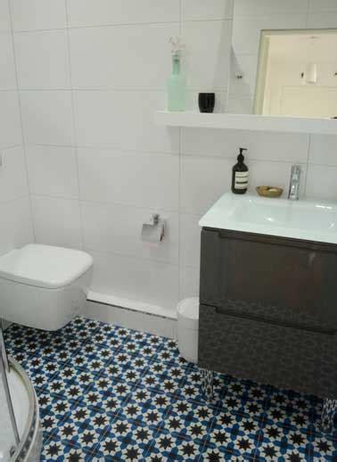 leroy merlin simulation cuisine sol salle de bain en carreaux de ciment bleu motif mosaique