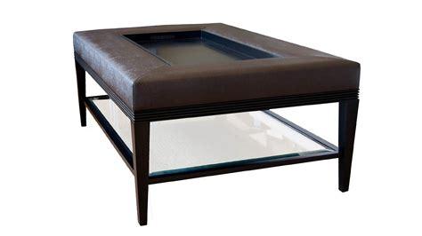 glass ottoman coffee table plush home carlisle coffee table ottoman