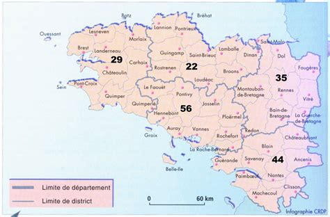 Carte Département Ville by Carte De Bretagne Avec Villes Principales Images Et