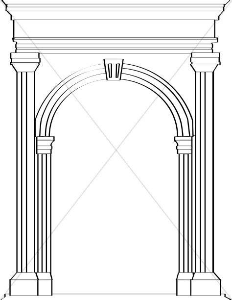 Stone Arch in Roman Architecture   Church Clipart